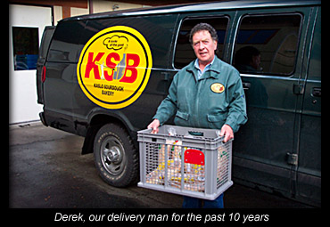 Derek, our delivery man for the past 10 years